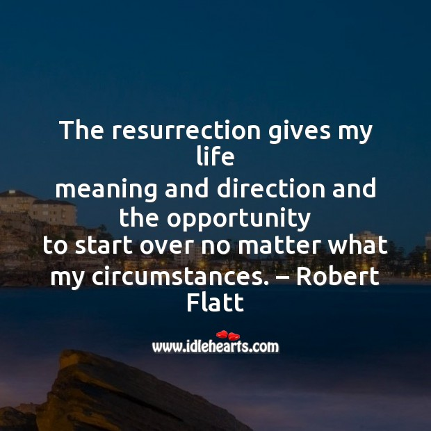 The resurrection gives my life Easter Messages Image