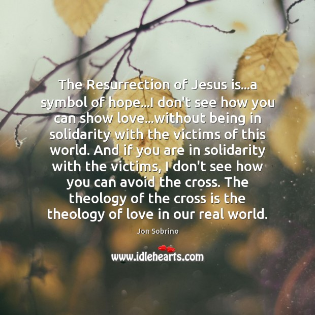 The Resurrection of Jesus is…a symbol of hope…I don't see Image