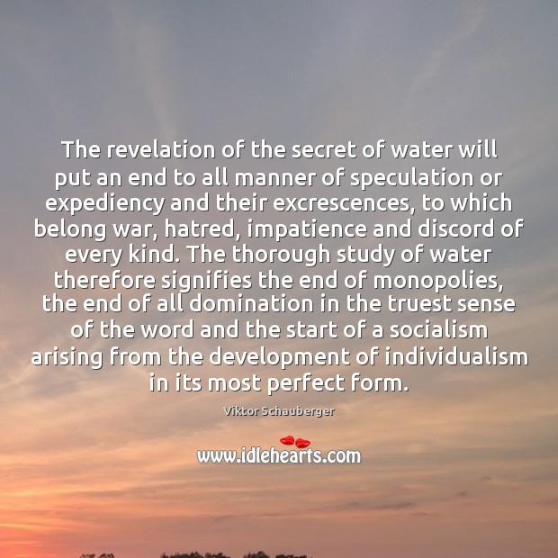 The revelation of the secret of water will put an end to Image