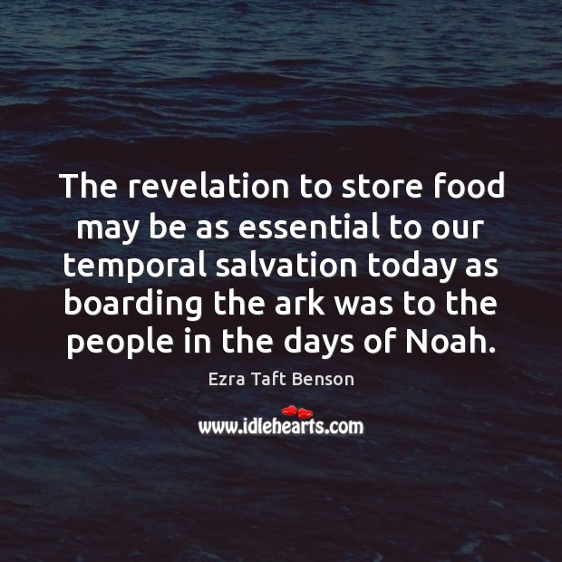 The revelation to store food may be as essential to our temporal Image