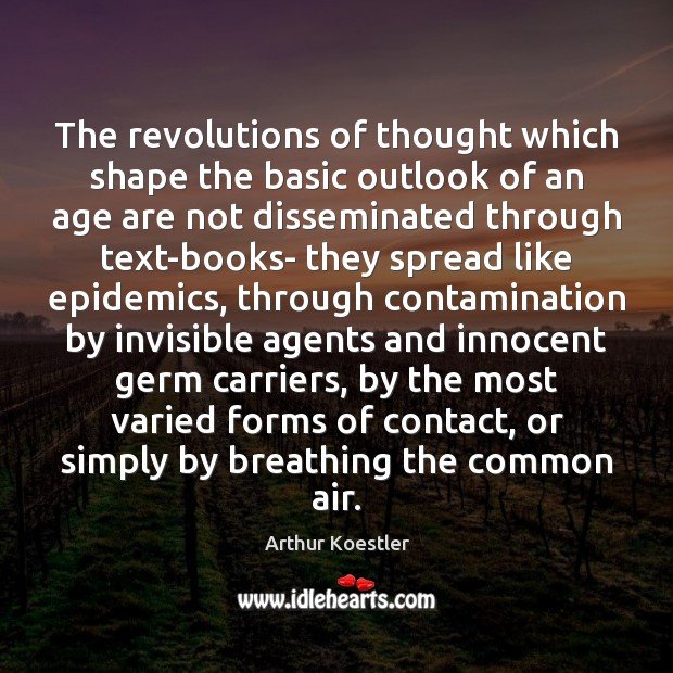 The revolutions of thought which shape the basic outlook of an age Image