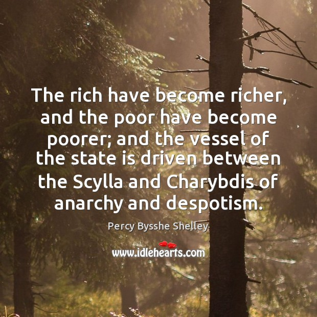 The rich have become richer, and the poor have become poorer; and Image
