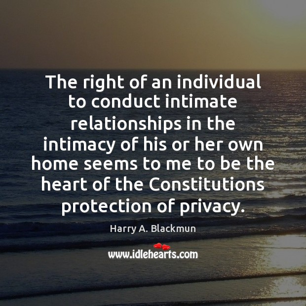 Image, The right of an individual to conduct intimate relationships in the intimacy