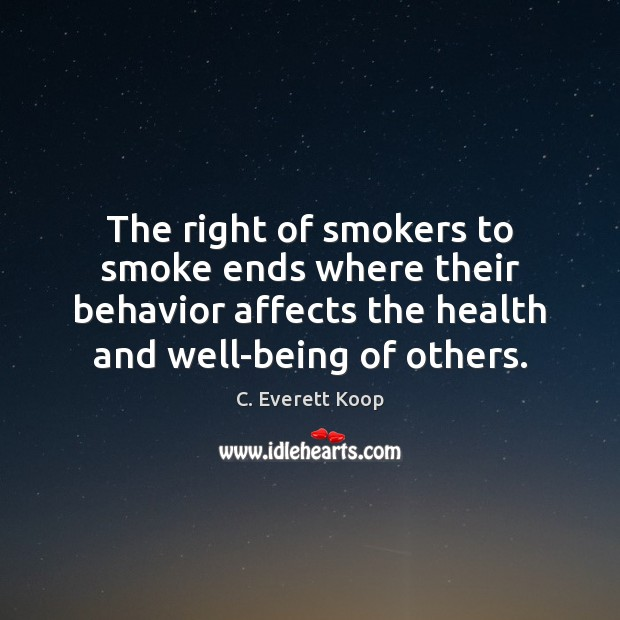 Image, The right of smokers to smoke ends where their behavior affects the
