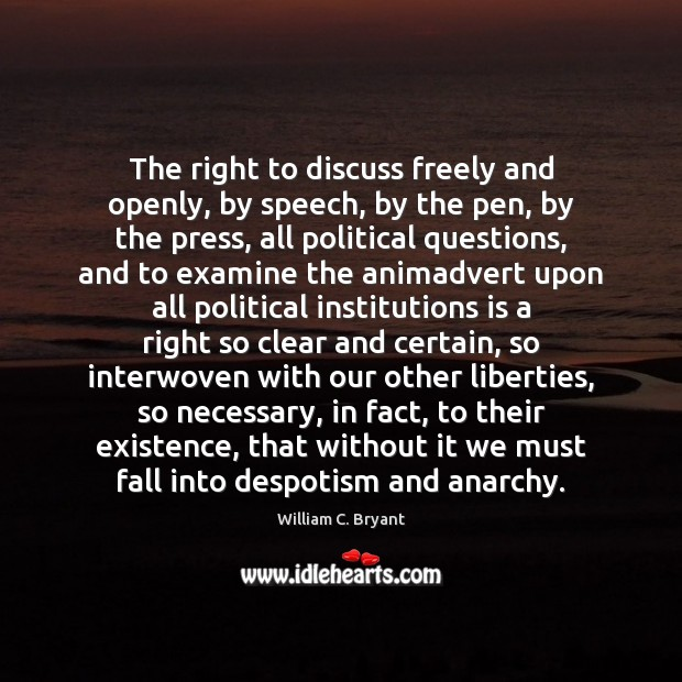 The right to discuss freely and openly, by speech, by the pen, Image