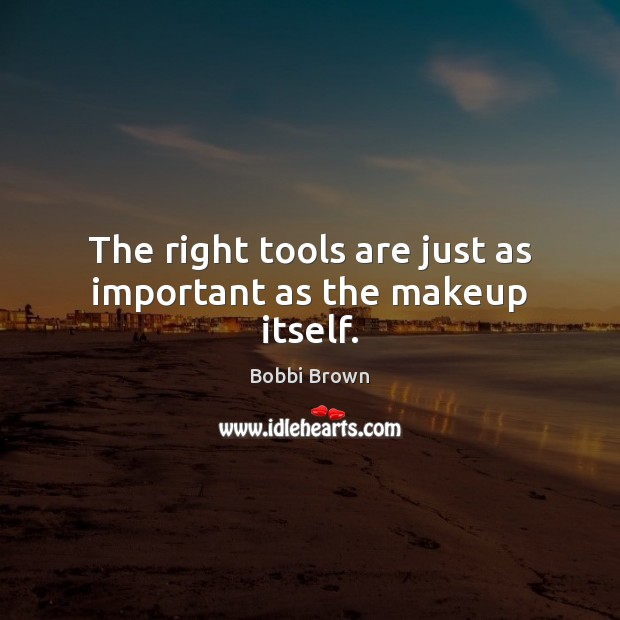 The right tools are just as important as the makeup itself. Image