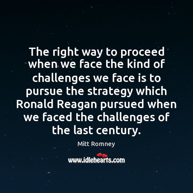 The right way to proceed when we face the kind of challenges Image