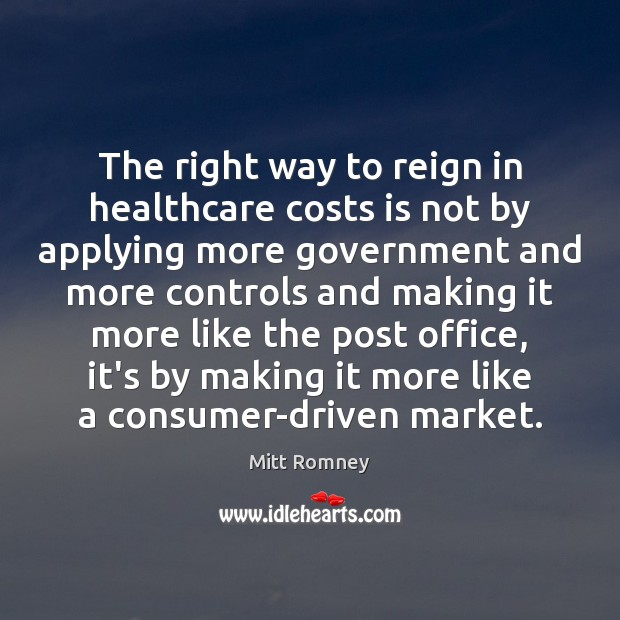 Image, The right way to reign in healthcare costs is not by applying