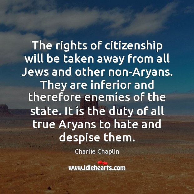 Image, The rights of citizenship will be taken away from all Jews and