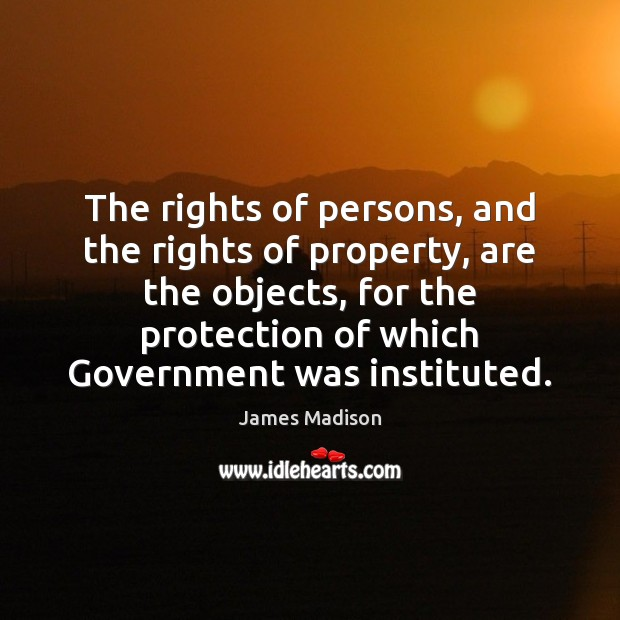 The rights of persons, and the rights of property, are the objects, Image