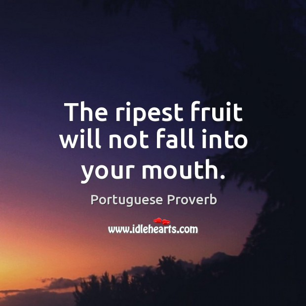 Image, The ripest fruit will not fall into your mouth.