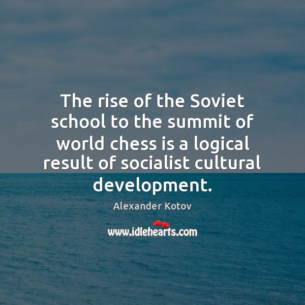 Image, The rise of the Soviet school to the summit of world chess