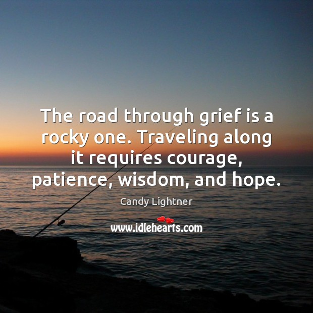 Image, The road through grief is a rocky one. Traveling along it requires