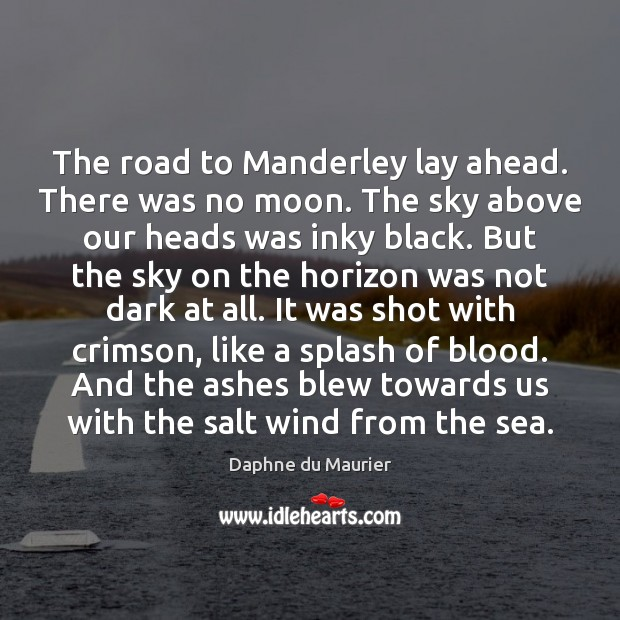 Image, The road to Manderley lay ahead. There was no moon. The sky