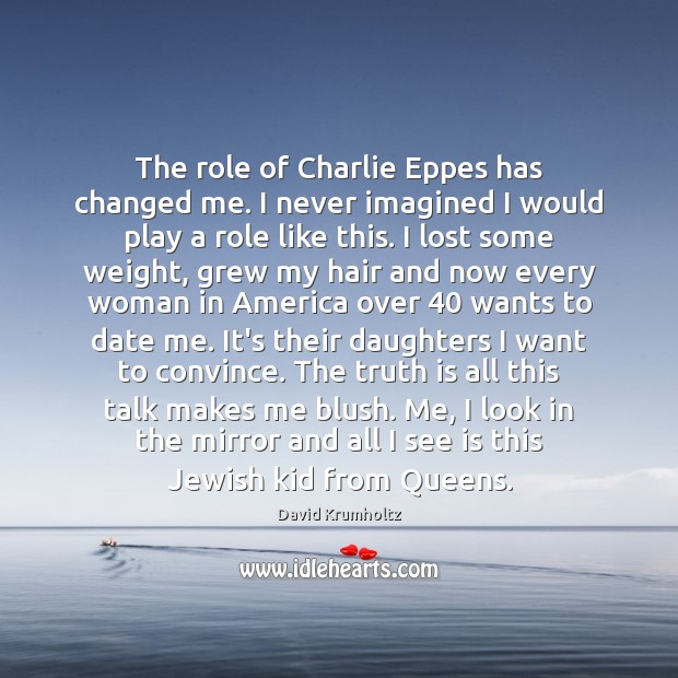 The role of Charlie Eppes has changed me. I never imagined I Truth Quotes Image