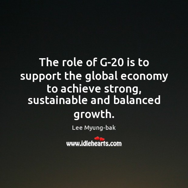 Image, The role of G-20 is to support the global economy to achieve