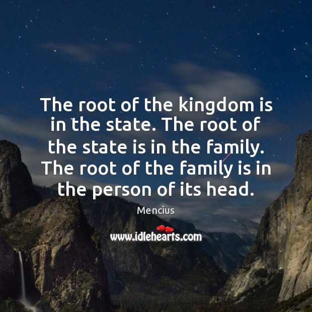 The root of the kingdom is in the state. The root of Image