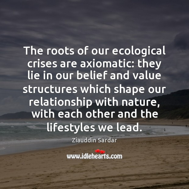 Image, The roots of our ecological crises are axiomatic: they lie in our