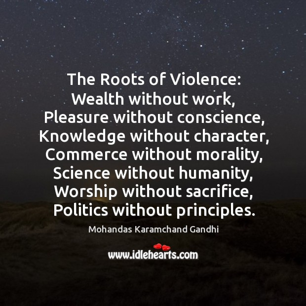 The roots of violence: Image