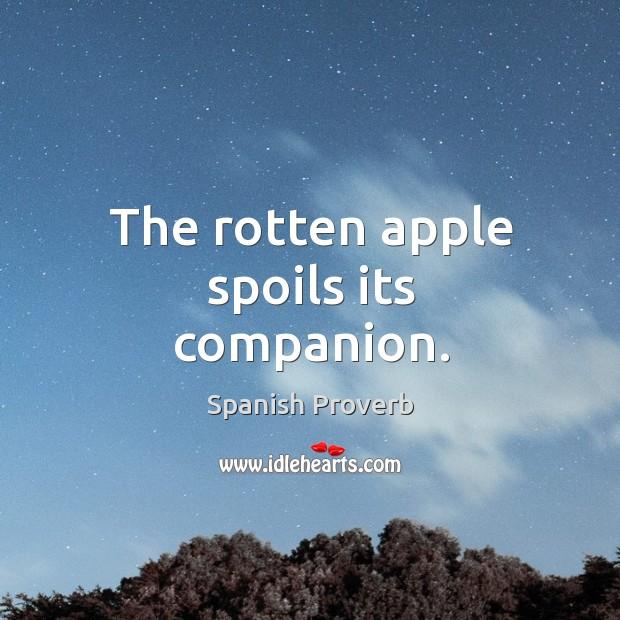 Image, The rotten apple spoils its companion.
