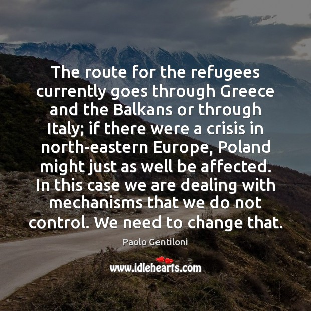 The route for the refugees currently goes through Greece and the Balkans Image