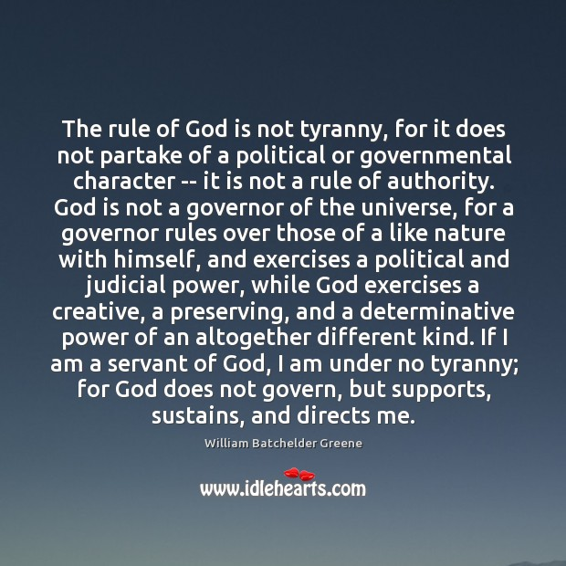 Image, The rule of God is not tyranny, for it does not partake