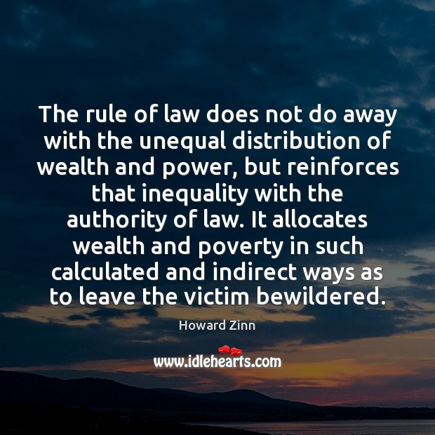 Image, The rule of law does not do away with the unequal distribution
