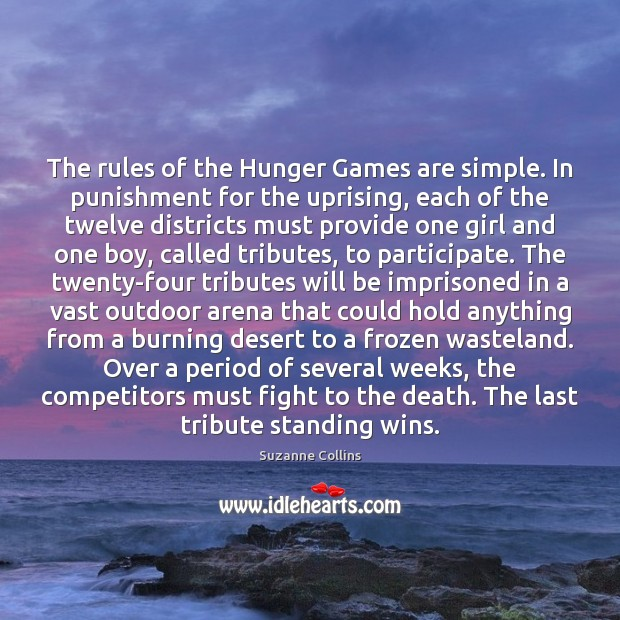 Image, The rules of the Hunger Games are simple. In punishment for the