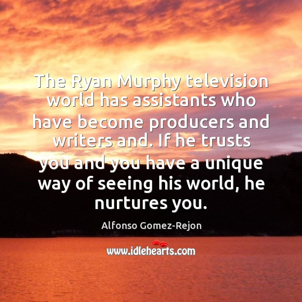 Image, The Ryan Murphy television world has assistants who have become producers and