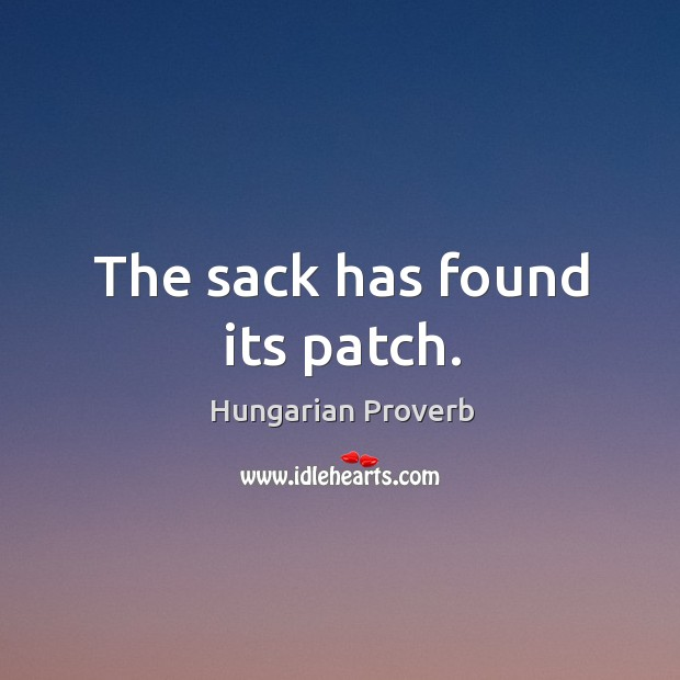 Image, The sack has found its patch.