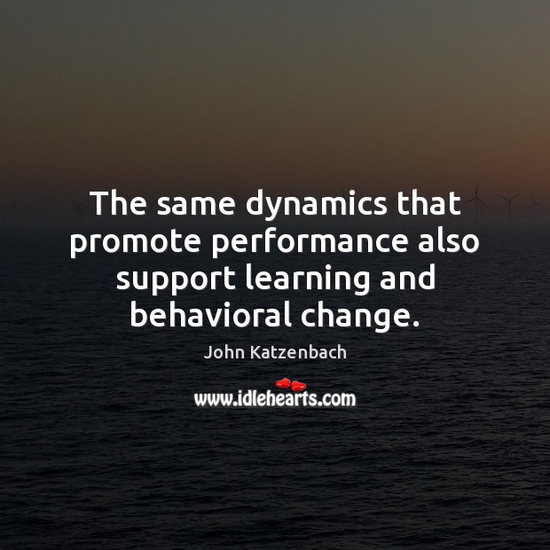 Image, The same dynamics that promote performance also support learning and behavioral change.