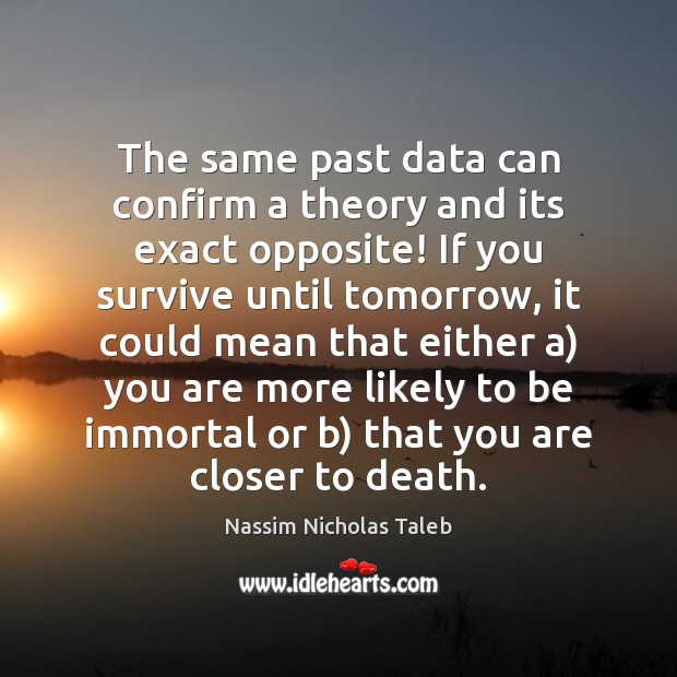 The same past data can confirm a theory and its exact opposite! Image