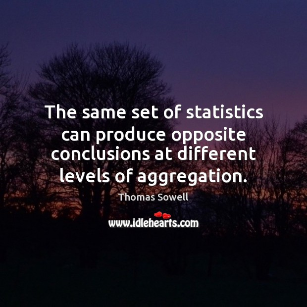 Image, The same set of statistics can produce opposite conclusions at different levels