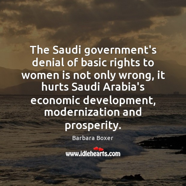 The Saudi government's denial of basic rights to women is not only Image