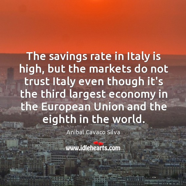 Image, The savings rate in Italy is high, but the markets do not