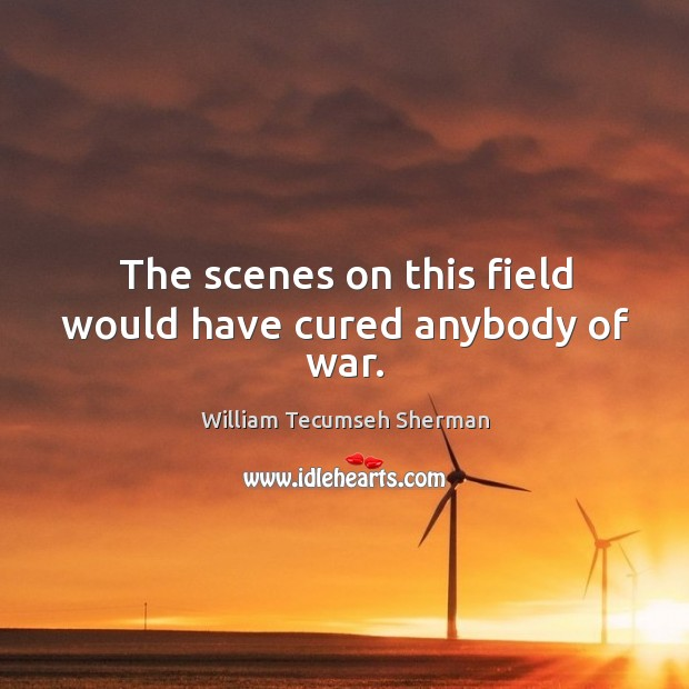 The scenes on this field would have cured anybody of war. William Tecumseh Sherman Picture Quote