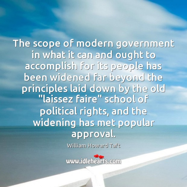 The scope of modern government in what it can and ought to Image
