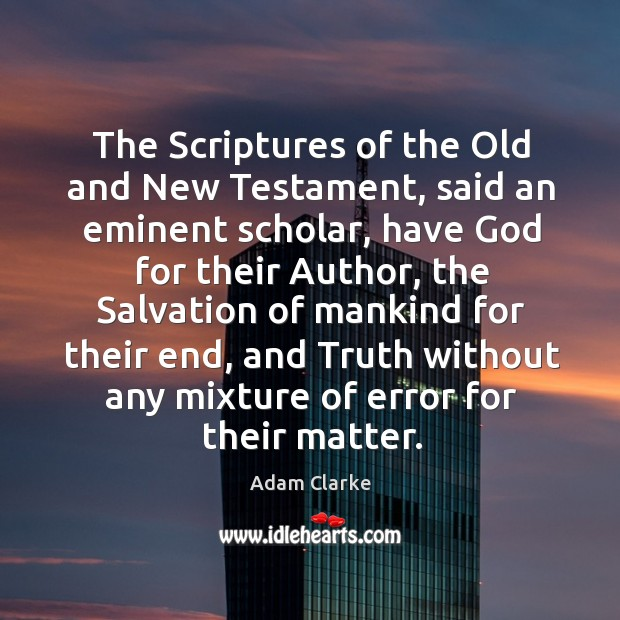 Image, The scriptures of the old and new testament