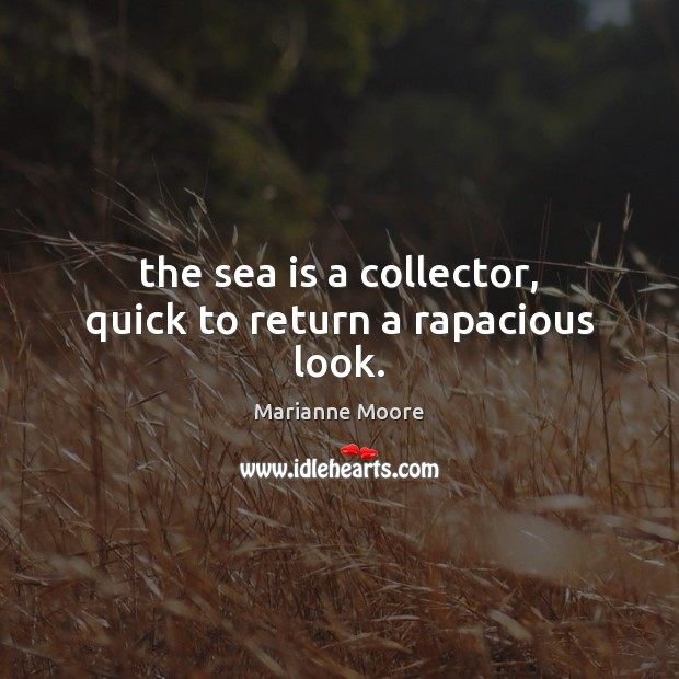 The sea is a collector, quick to return a rapacious look. Sea Quotes Image