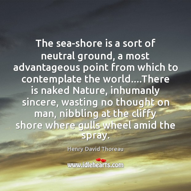 The sea-shore is a sort of neutral ground, a most advantageous point Image
