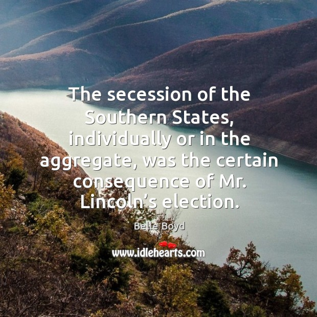 Image, The secession of the southern states, individually or in the aggregate