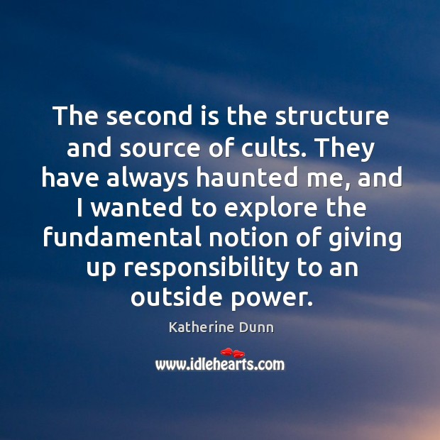 The second is the structure and source of cults. Image