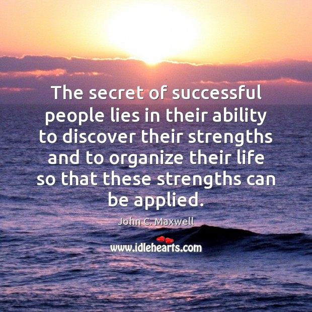 Image, The secret of successful people lies in their ability to discover their