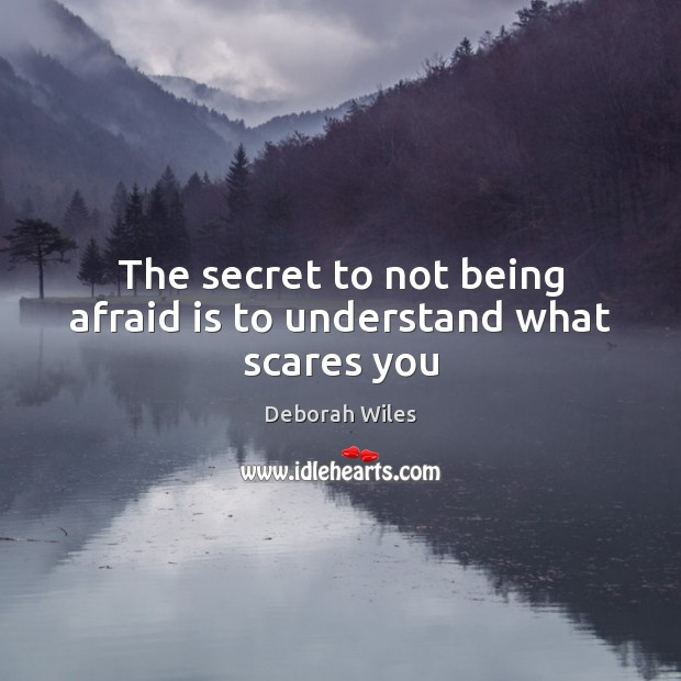 Image, The secret to not being afraid is to understand what scares you