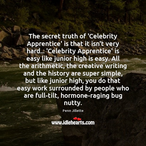 The secret truth of 'Celebrity Apprentice' is that it isn't very hard… Image