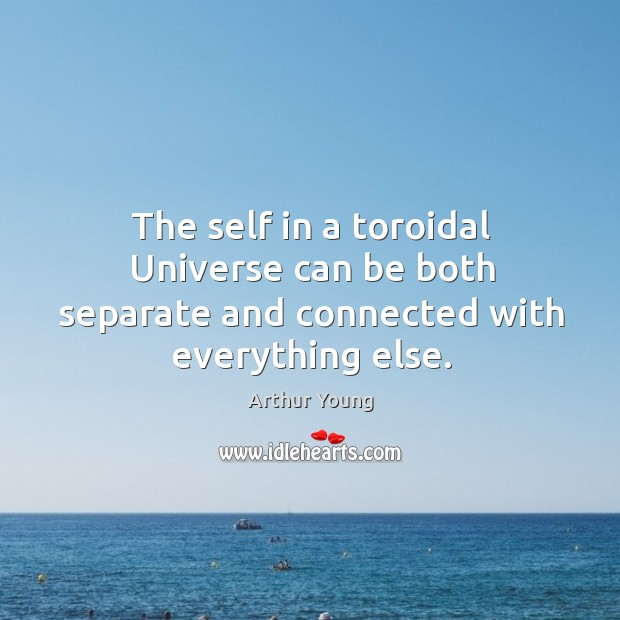 The self in a toroidal Universe can be both separate and connected with everything else. Image