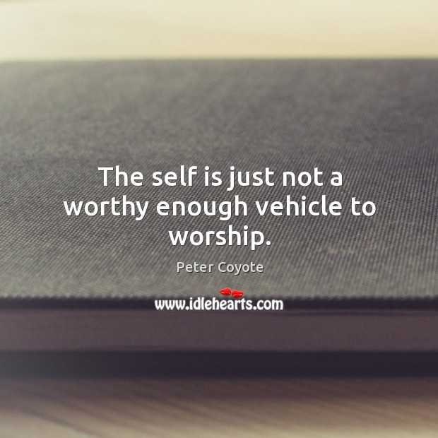The self is just not a worthy enough vehicle to worship. Image