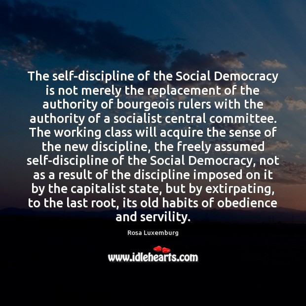 Image, The self-discipline of the Social Democracy is not merely the replacement of