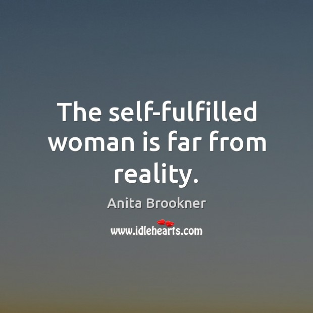 Image, The self-fulfilled woman is far from reality.