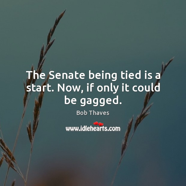 Image, The Senate being tied is a start. Now, if only it could be gagged.